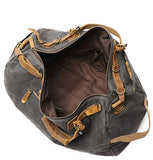 Handmade Canvas Leather Duffle Bag Men Travel Bag FX99981 - Unihandmade
