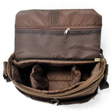 Waxed Canvas DSLR Camera Bag Messenger Bag Shoulder Bag AF45 - Unihandmade