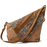 Handmade Canvas  Rucksack School Casual Cross Body Bag Women Shoulder Bag with USB  FX8834 - Unihandmade