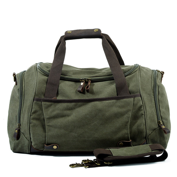 Handmade Waxed Canvas Travel Bag Duffle Bag Gym Bag CF27