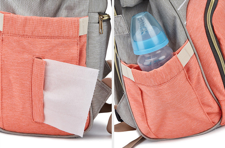 Diaper Bag Backpack Multi-Function Waterproof Travel Backpack Nappy Bags for Baby Care - Unihandmade