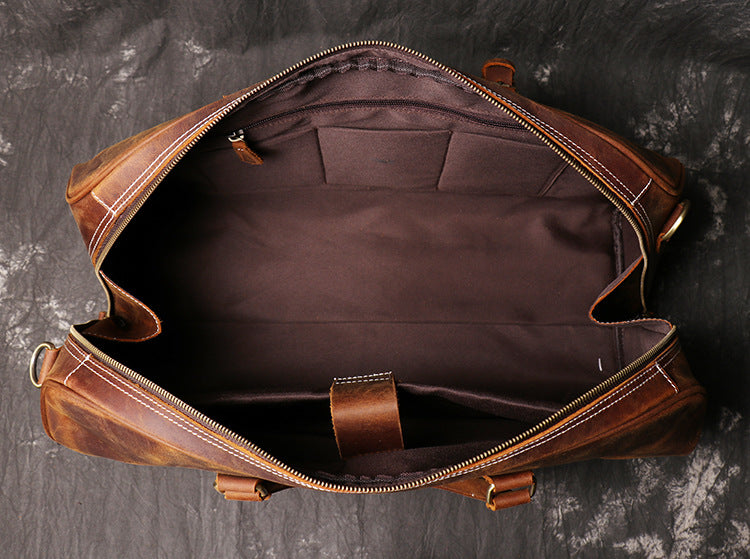 Handmade Vintage Leather Overnight Duffel Bag Travel Bag Holdall Luggage Bag 048