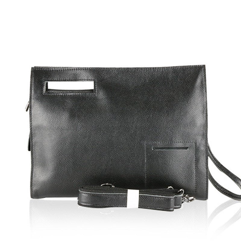 Handmade Top Grain Leather Cross body Clutch Bag Ipad Bag JO3355 - Unihandmade