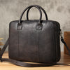Handcrafted Vintage Style Full Grain Leather Business Briefcase Men's Laptop Bag YS8900 - Unihandmade