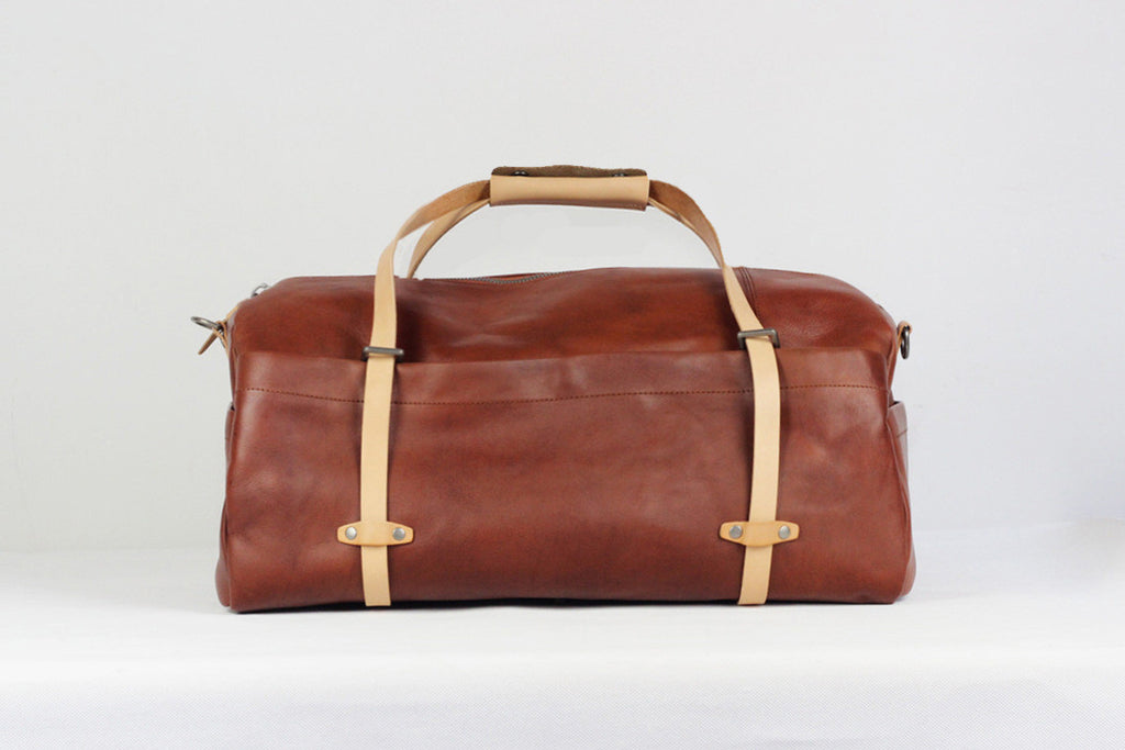 Handmade Full Grain Leather Holdall Luggage Bag Leather Travel Duffel Bag CF05 - Unihandmade