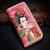 Handmade Leather Beauty Biker Wallet Clutch Long Wallet Leather Women Phone Wallet NW112