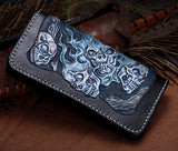 Handmade Leather  Biker Wallet Clutch Punk Long Wallet  NW114 - Unihandmade