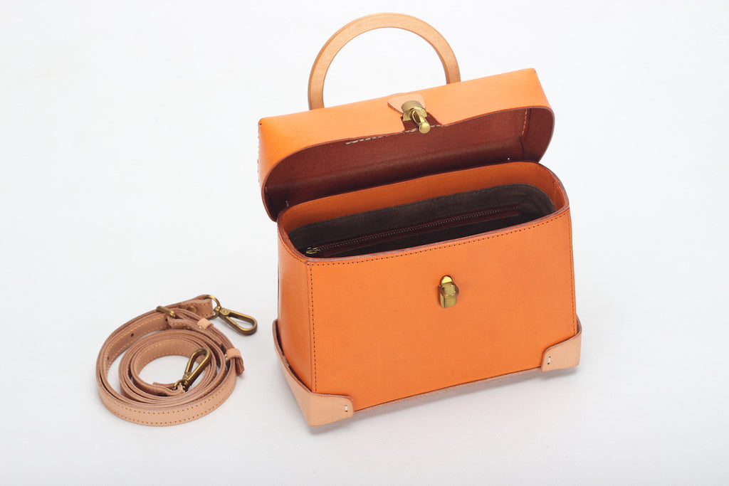 Women Full Grain Leather Bag Ladies Cross Body Bags Shoulder Bag for Girl ZD7253 - Unihandmade