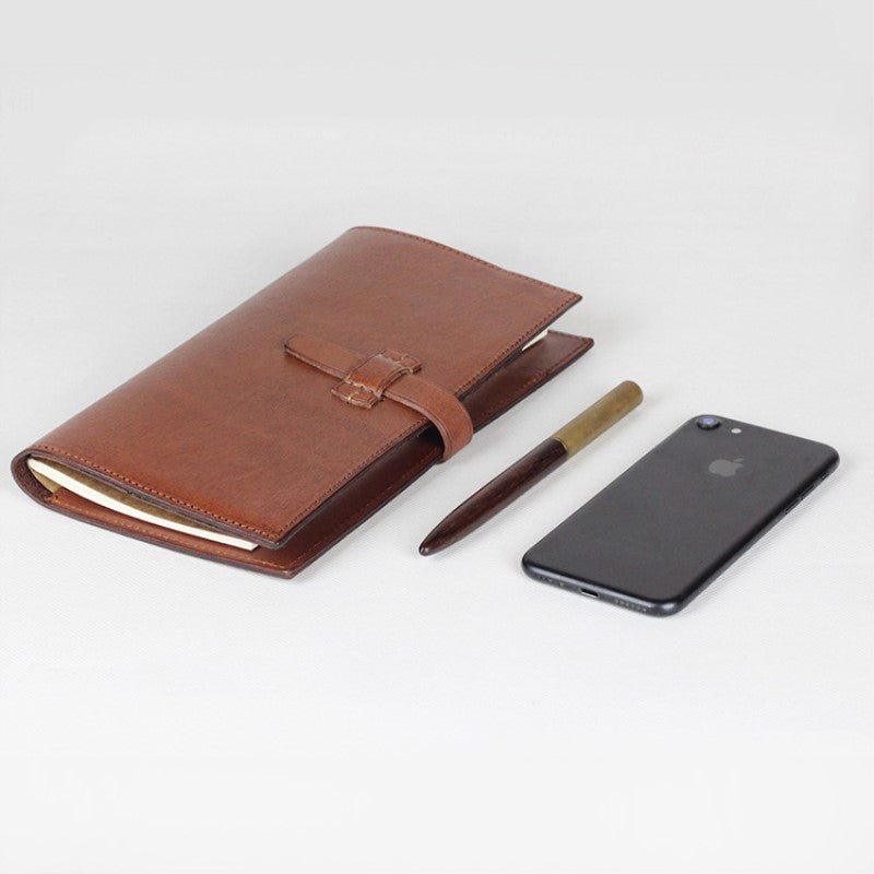 Handmade Full Grain Leather Travel Wallet Passport Holder Card Holder  Leather Cover Notebook QL4037 - Unihandmade