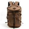 Handmade Canvas Leather Backpack Rucksack Travel Backpack School Backpack MC6001 - Unihandmade