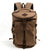 Handmade Canvas Leather Backpack Rucksack Travel Backpack School Backpack MC6001