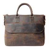 Handmade Vintage Leather Men Briefcase Leather Messenger Bag YS8013 - Unihandmade