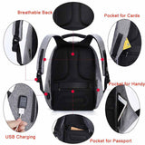 Waterproof Laptop Backpack Anti theft Backpack USB Charger 17 Inch Backpack Travel Men Women