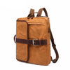 Backpacking  with USB Charge Waxed Canvas Backpack Rucksacks Travel Backpack Waterproof YD5393 - Unihandmade