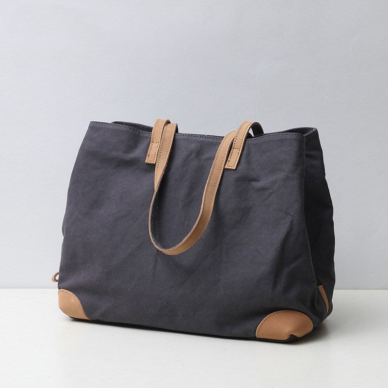Handmade Tote bag Women Zipper Tote Carry-on Everyday Shopping Bag