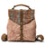 Handmade Canvas Leather Backpack Women School Backpack Travel Bag FX3003