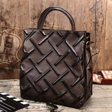 Handmade Full Grain Leather Hand Bag Women Leather Tote Bag TZ6262 - Unihandmade