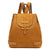Handmade Leather Backpack Girl, Women's Top Grain Cowhide Backpacking Shoulder Bag JO3010