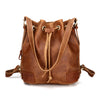 Handmade Leather Backpack Girl Cross body Bag Leather Bucket Bag JO3012 - Unihandmade