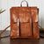 Handmade Leather Backpack Girl Women's Full Grain Leather Shoulder Bag TZ9685