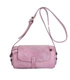 Handmade Waxed Leather Cross Body Bag Shoulder Bag Boston Bag  JO8672 - Unihandmade