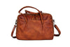 Handmade Full Grain Leather  Luggage Bag Leather Hand Bag Women Shoulder Leather Bag TZ6263 - Unihandmade