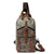 Handmade Canvas Leather Shoulder Bag Women Chest Bag FX1007