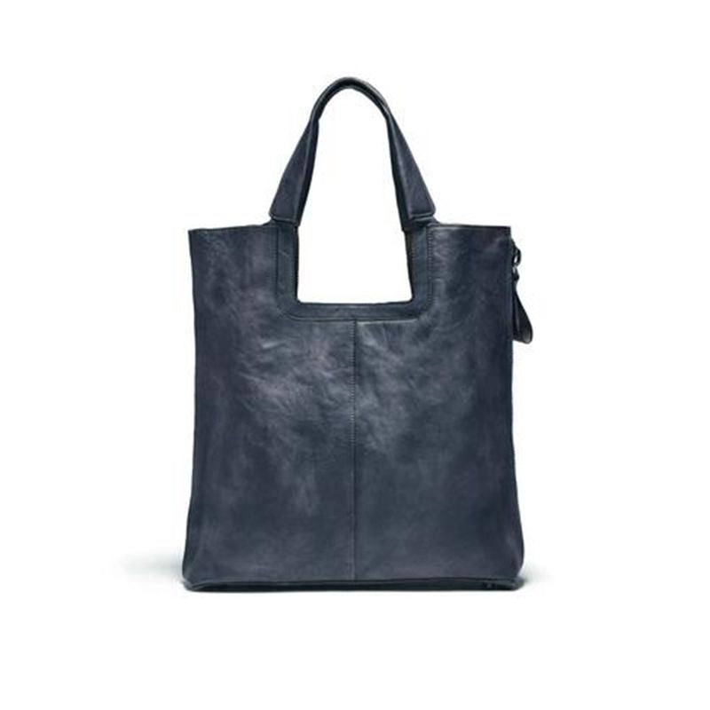 Handmade Full Grain Leather Tote Bag Shopping Lady Handbag  F66 - Unihandmade