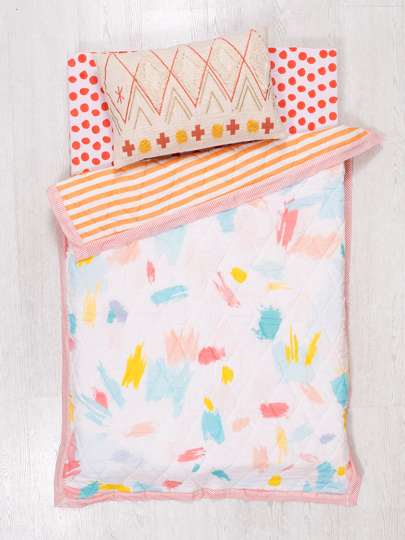Color Strokes Baby Quilted Blanket