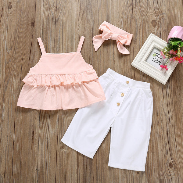 Frill Top and Pant Summer Set