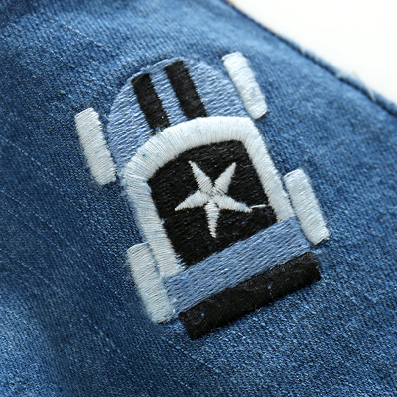 Car Embroidered Denim
