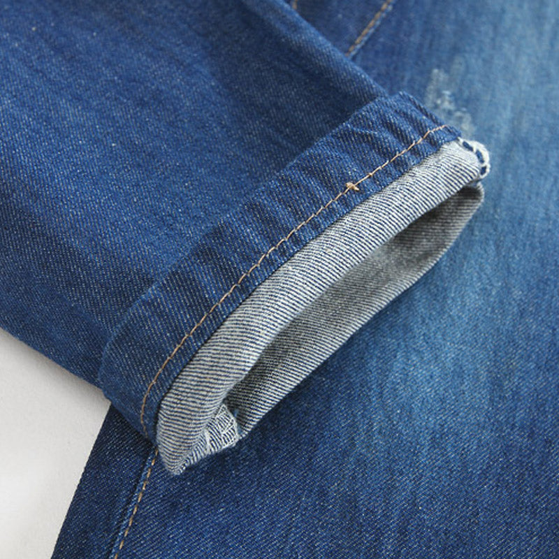 Denim With Grey Rib