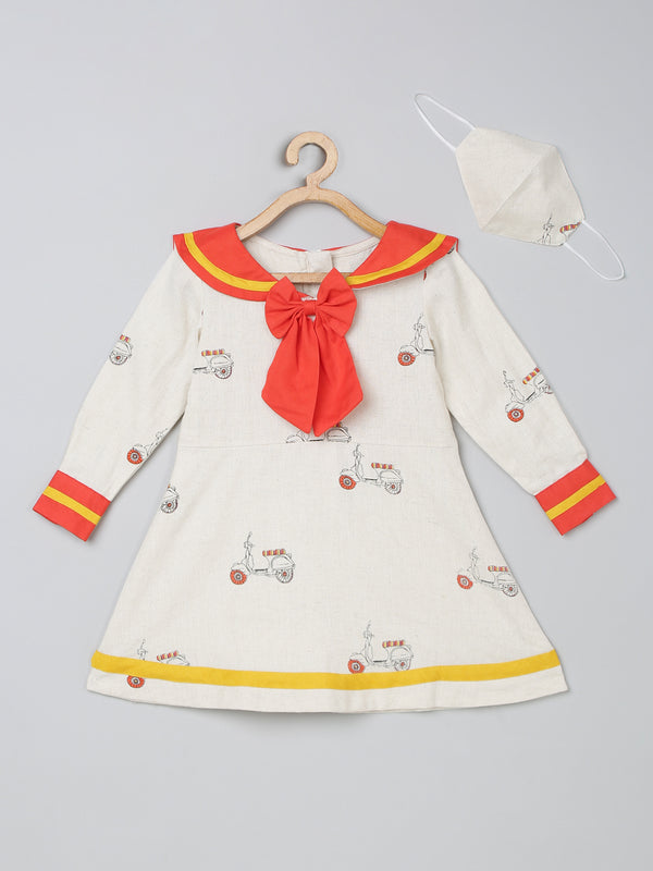 TBT Sailor Bow Dress with Matching mask