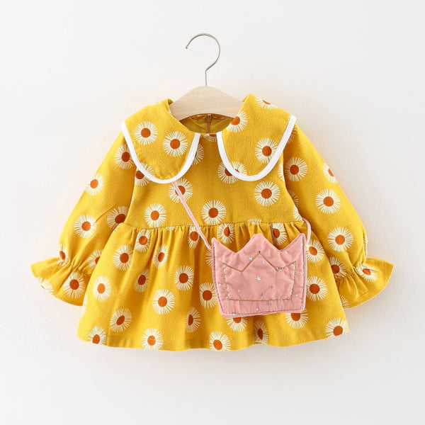 Sunflower Dress with Bag