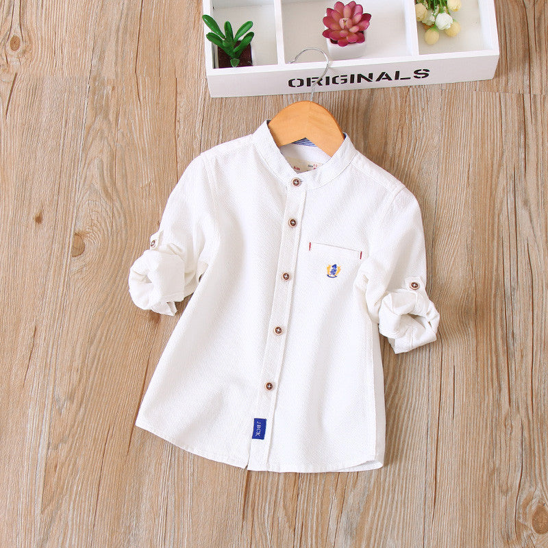 Mandarin Collar Casual Shirt