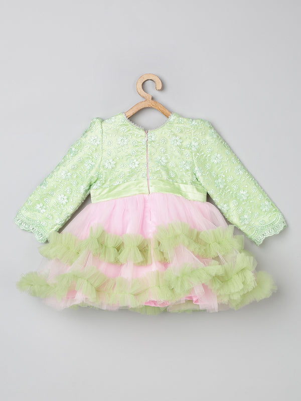 TBT Lacey Full Sleeve Fluffy Tutu Dress