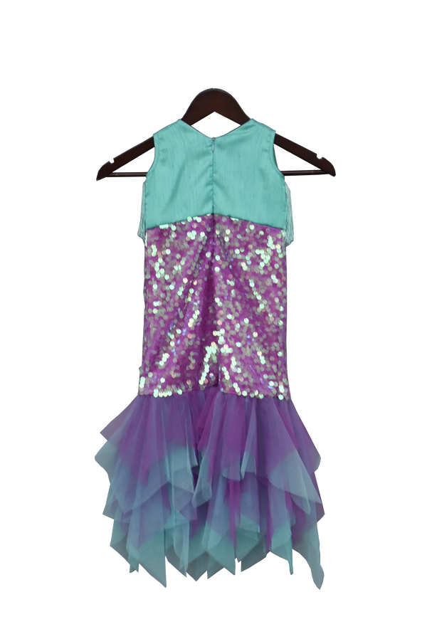 Aqua and Purple Mermaid Dress