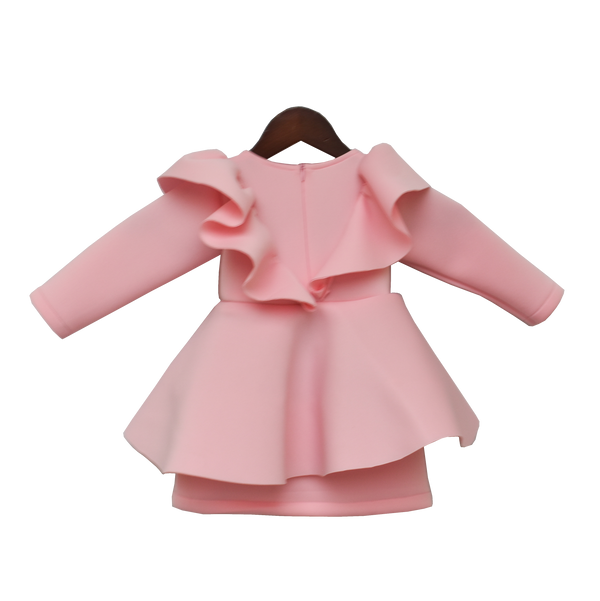 Baby Pink Neoprene Dress