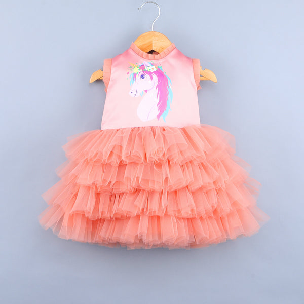 Unicorn Peach Dress