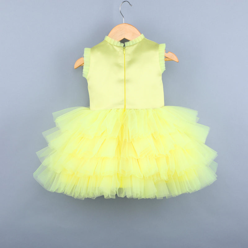 Rainbow Unicorn Yellow Dress