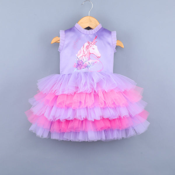 Angel Unicorn Lavender Dress