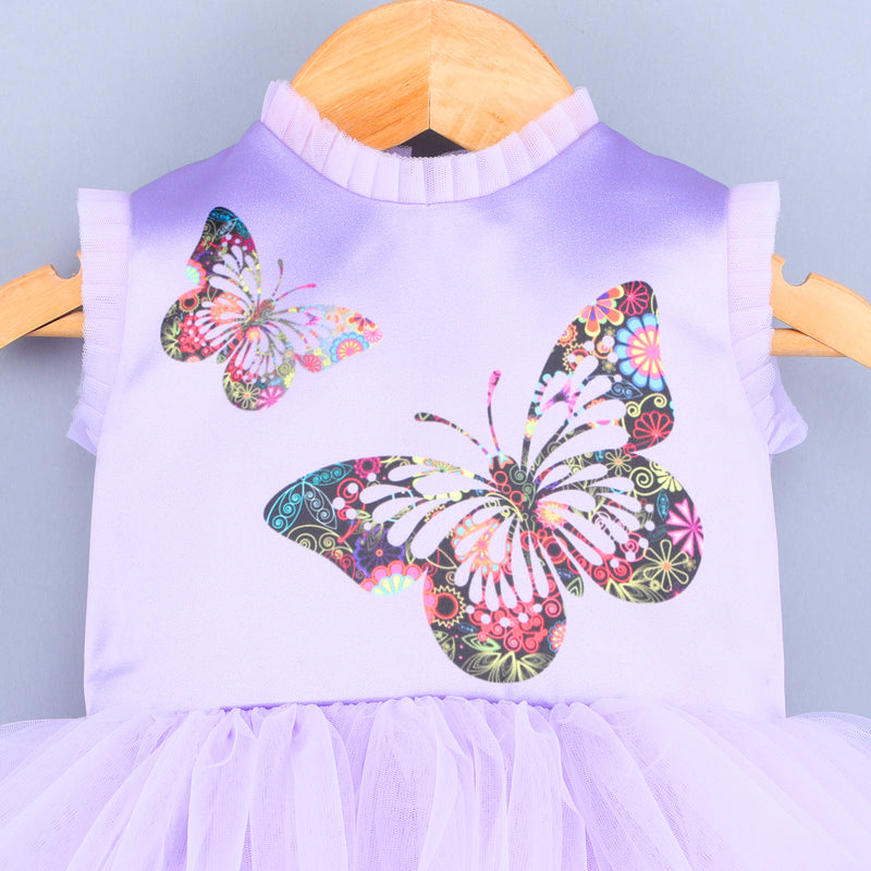 Flying Butterfly Lavender Dress