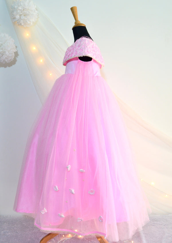 TBT Off-Shoulder Rose Gown with wings