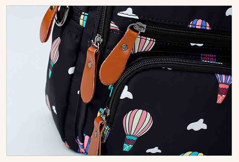 Air Ballon Printed Diaper Bag