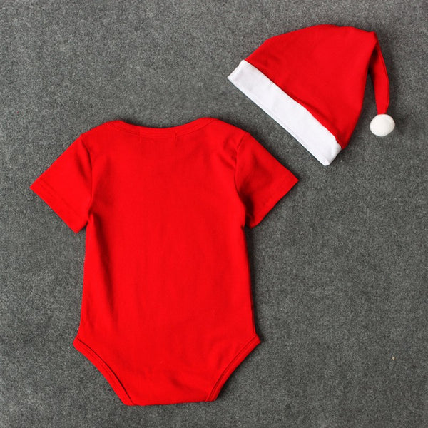 First Christmas Romper With Cap