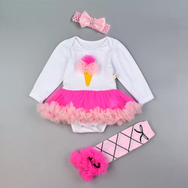 Party Tutu Dresses With Headband And Leg Warmer