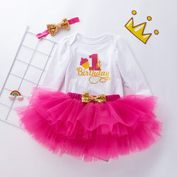 First Birthday Tutu Dress With Headband