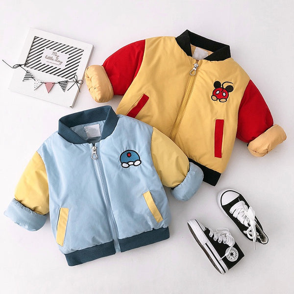Cartoon made bomber winter jackets