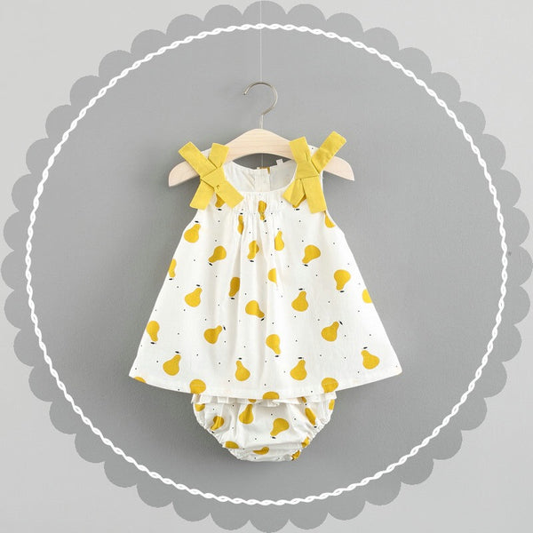 Pear Printed Bloomer Set