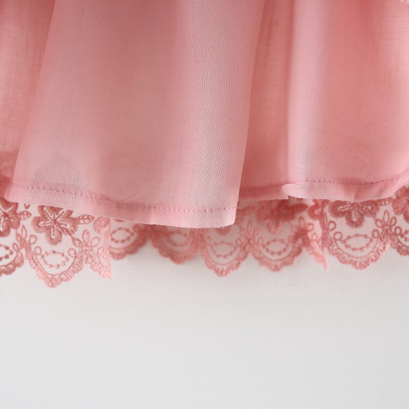 Flower Lace Mesh Summer Party Dress